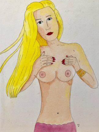 mermaid with long blonde hair