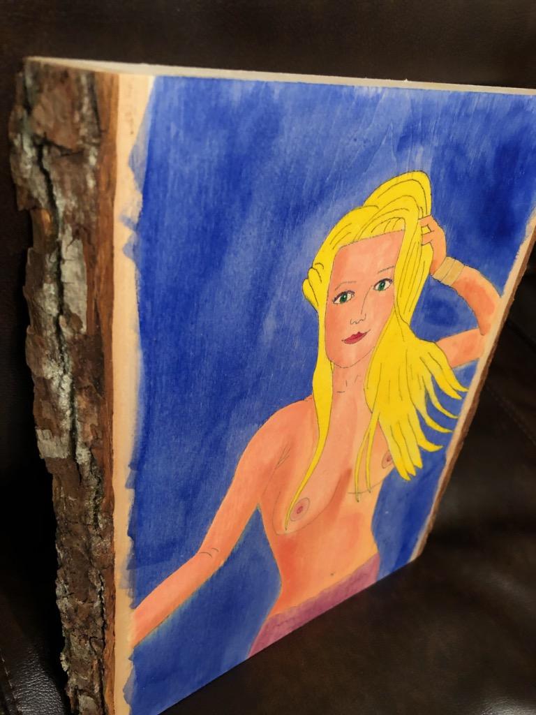 Brizo mermaid painting on wood