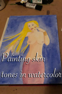 How I paint skin tones in watercolor