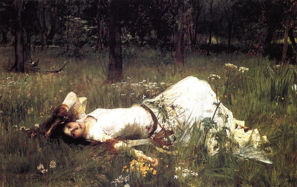 Waterhouse's Ophelia 1889