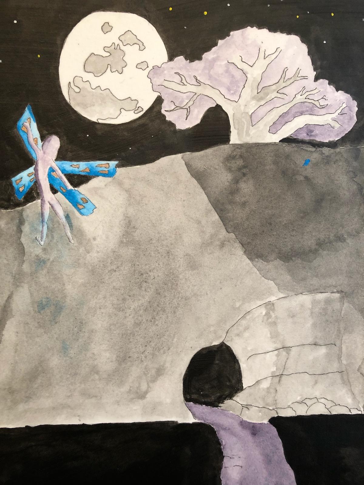 fairie under the moon