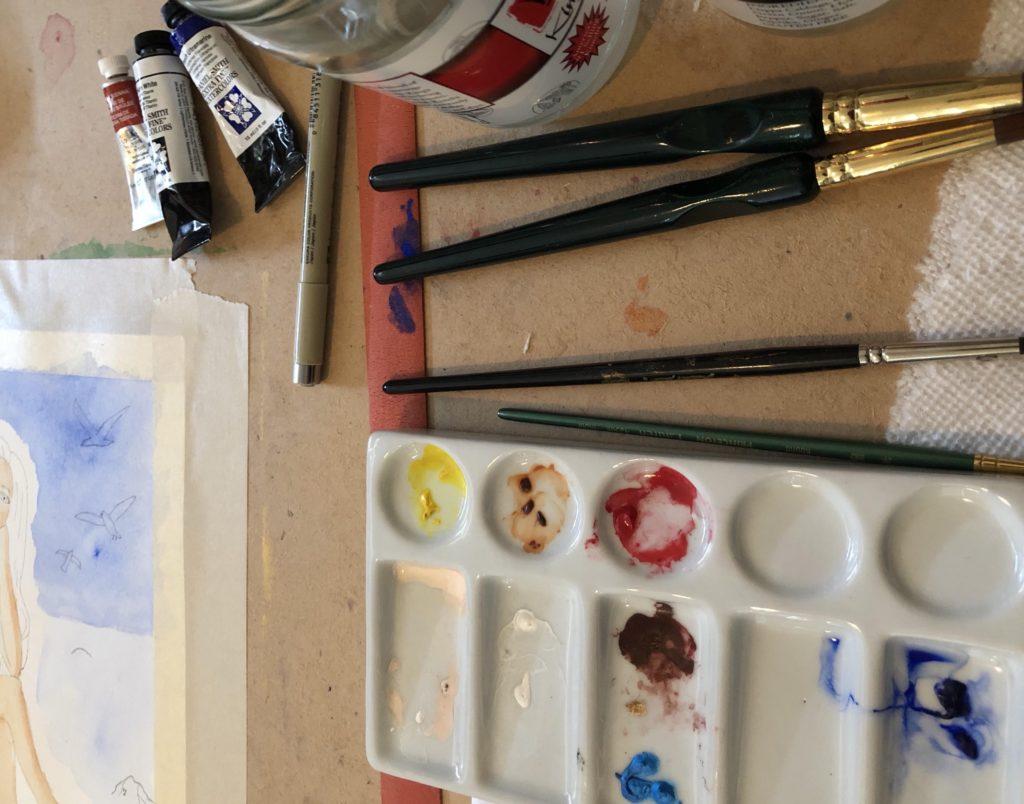 porcelain watercolor palette