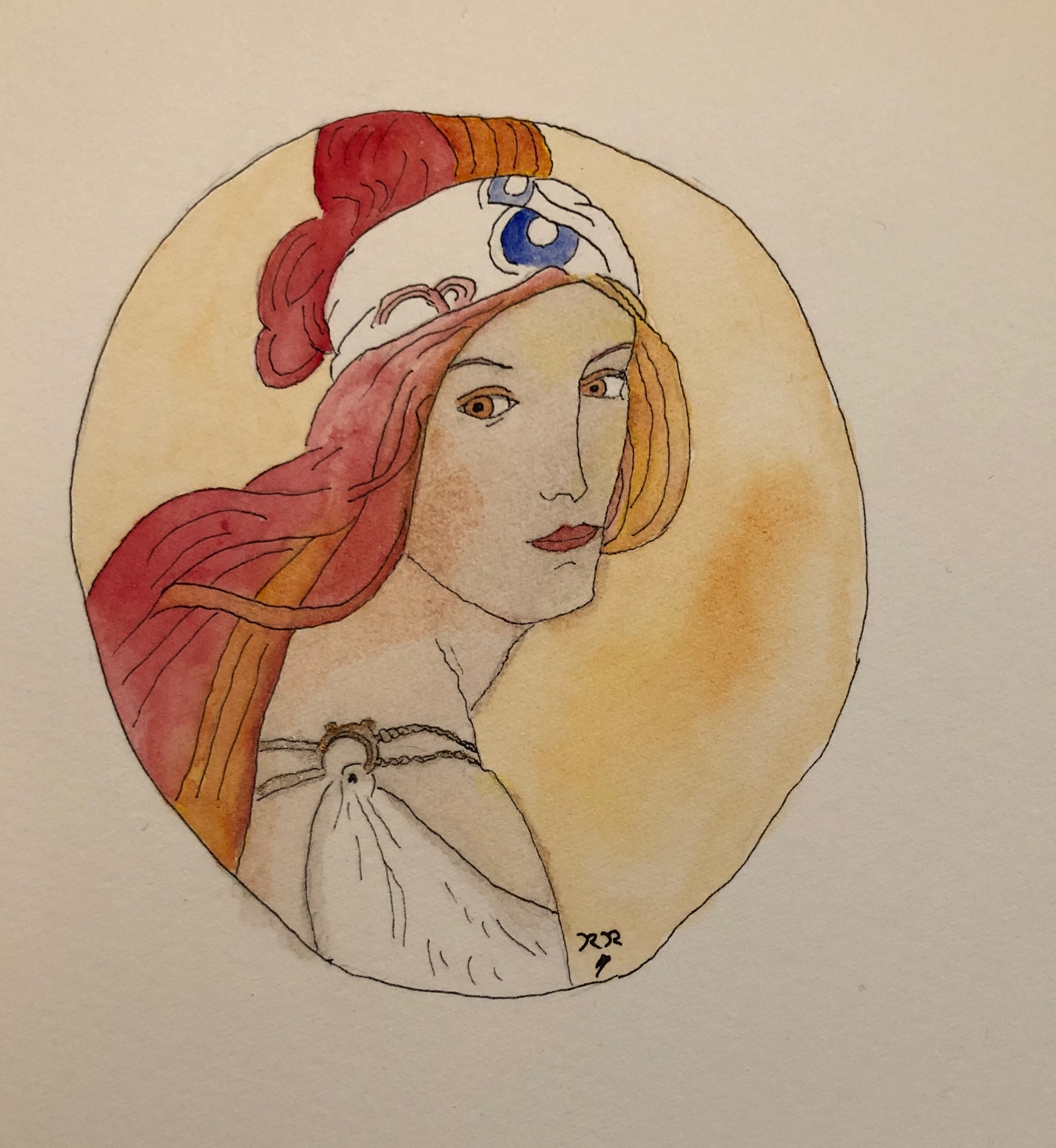 Opium Tales paints a Mucha Girl
