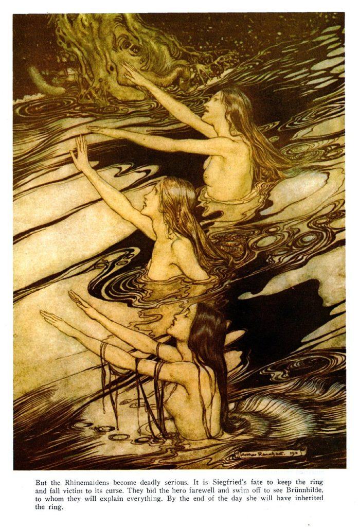 Arthur Rackham's Rhinemaidens