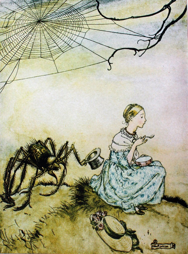 Arthur Rackham Little Miss Muffet