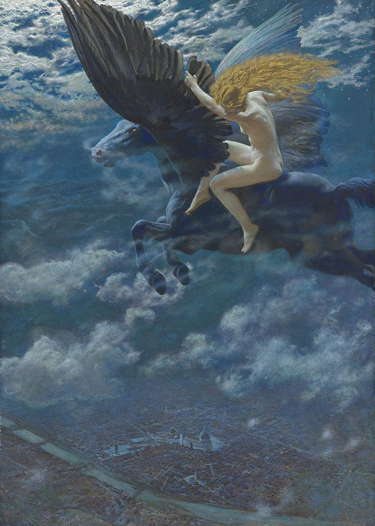 Edward Robert Hughes - Dream Idyll (A Valkyrie)