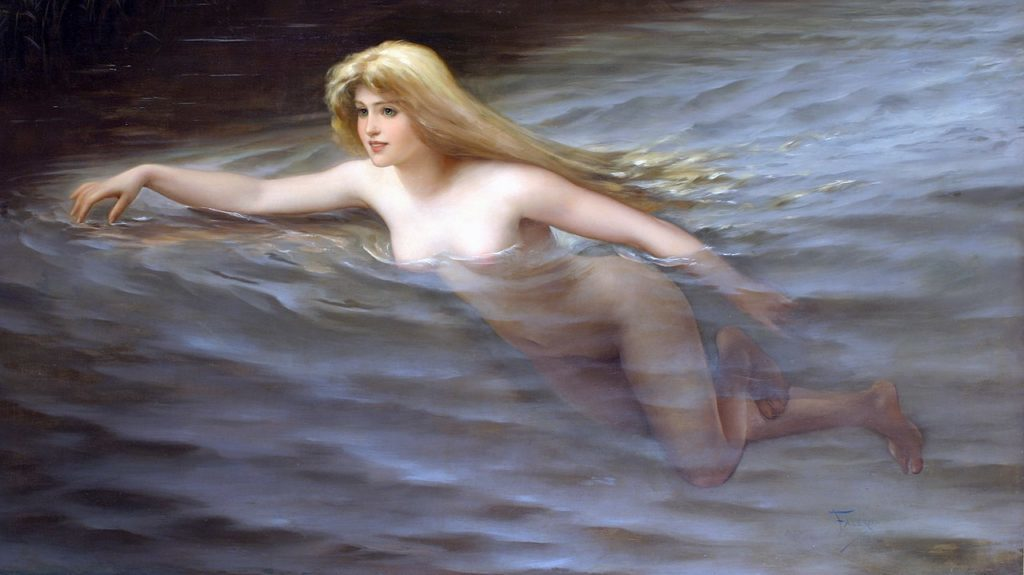 The Nymph from Luis Ricardo Falero