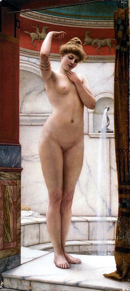 John William Godward - A Pompeian Bath (1890)