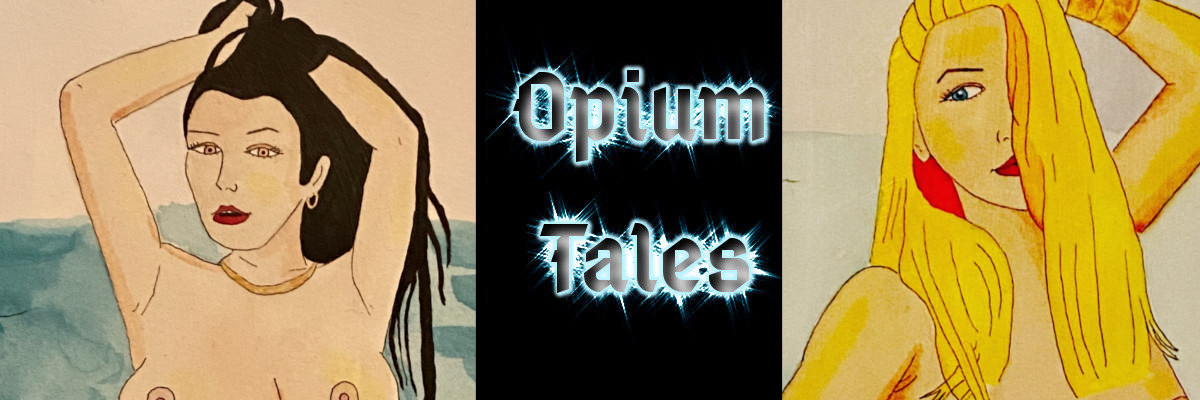 Opium Tales header image with Roxy and Allie