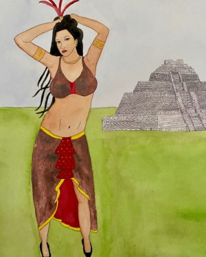 Mayan Princess – 8×10 matted print