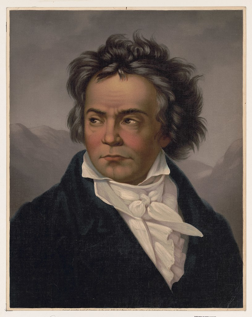 Beethoven painted by Ferdinand Schimon
