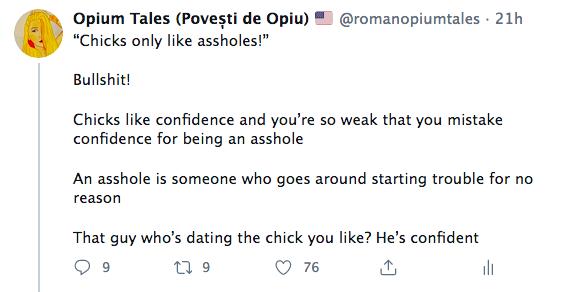 Chicks only like assholes